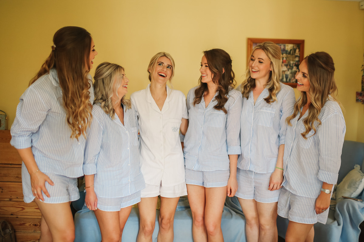 morning with bridesmaids