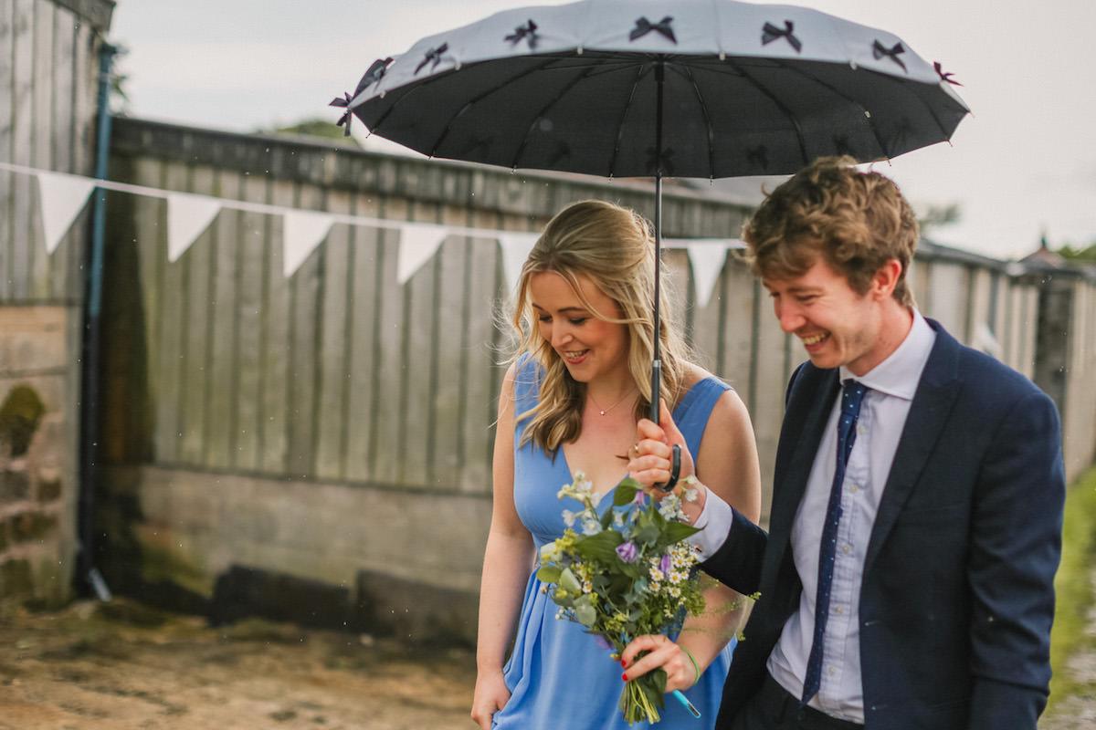 umbrella at wedding