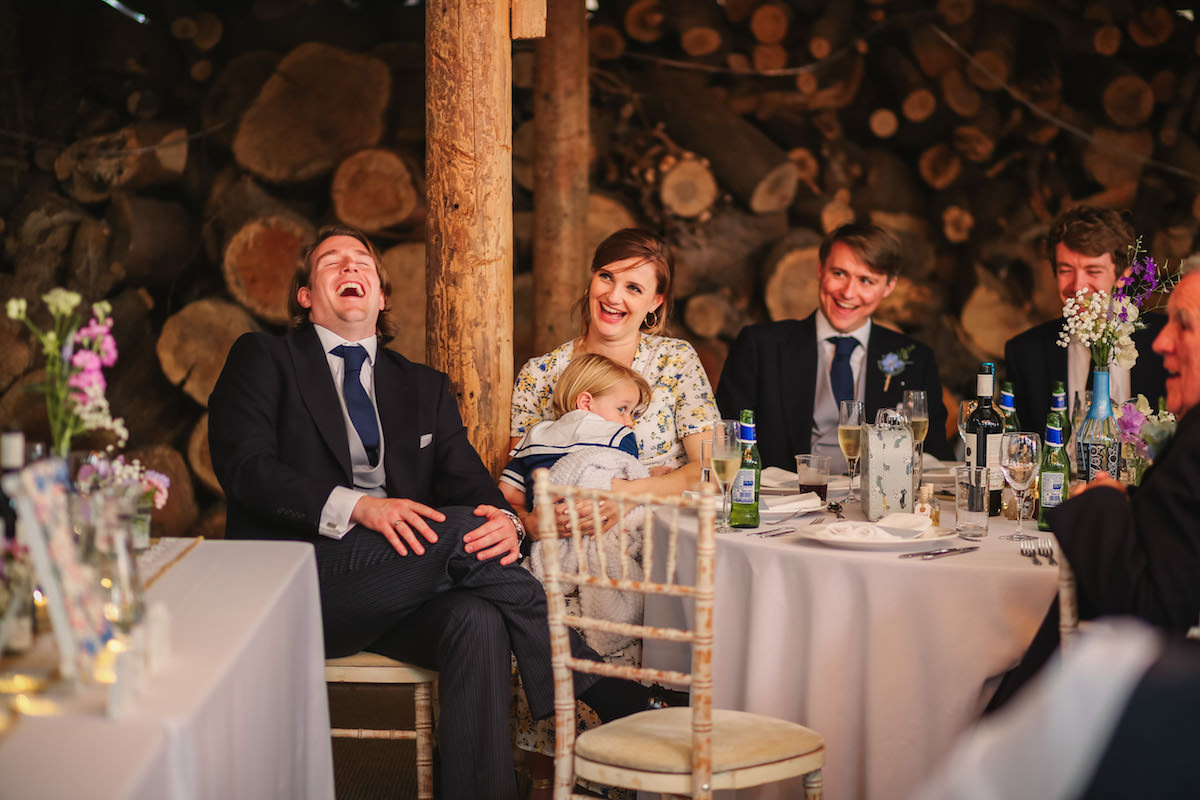natural laughing photograph of guests
