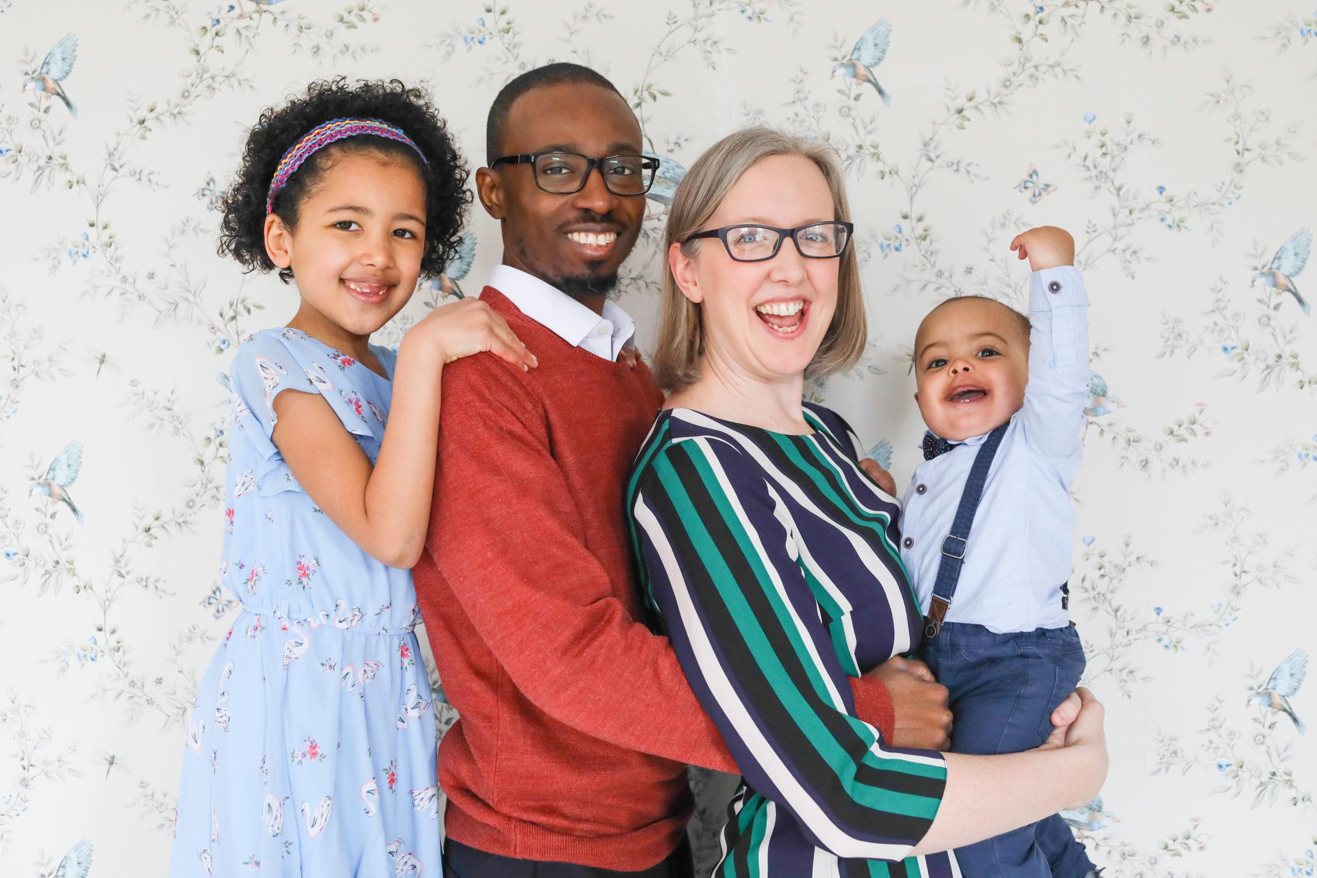 family portrait colorful fun