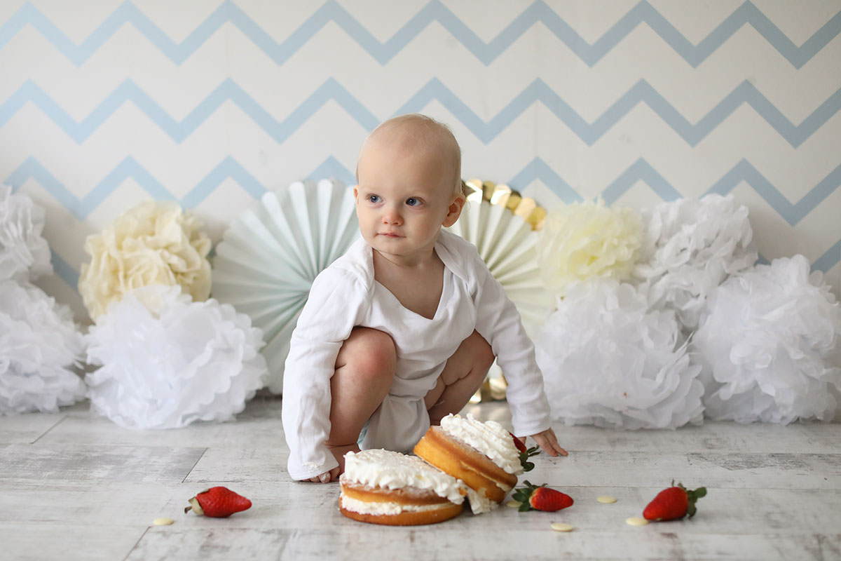 cake smash photography white romper