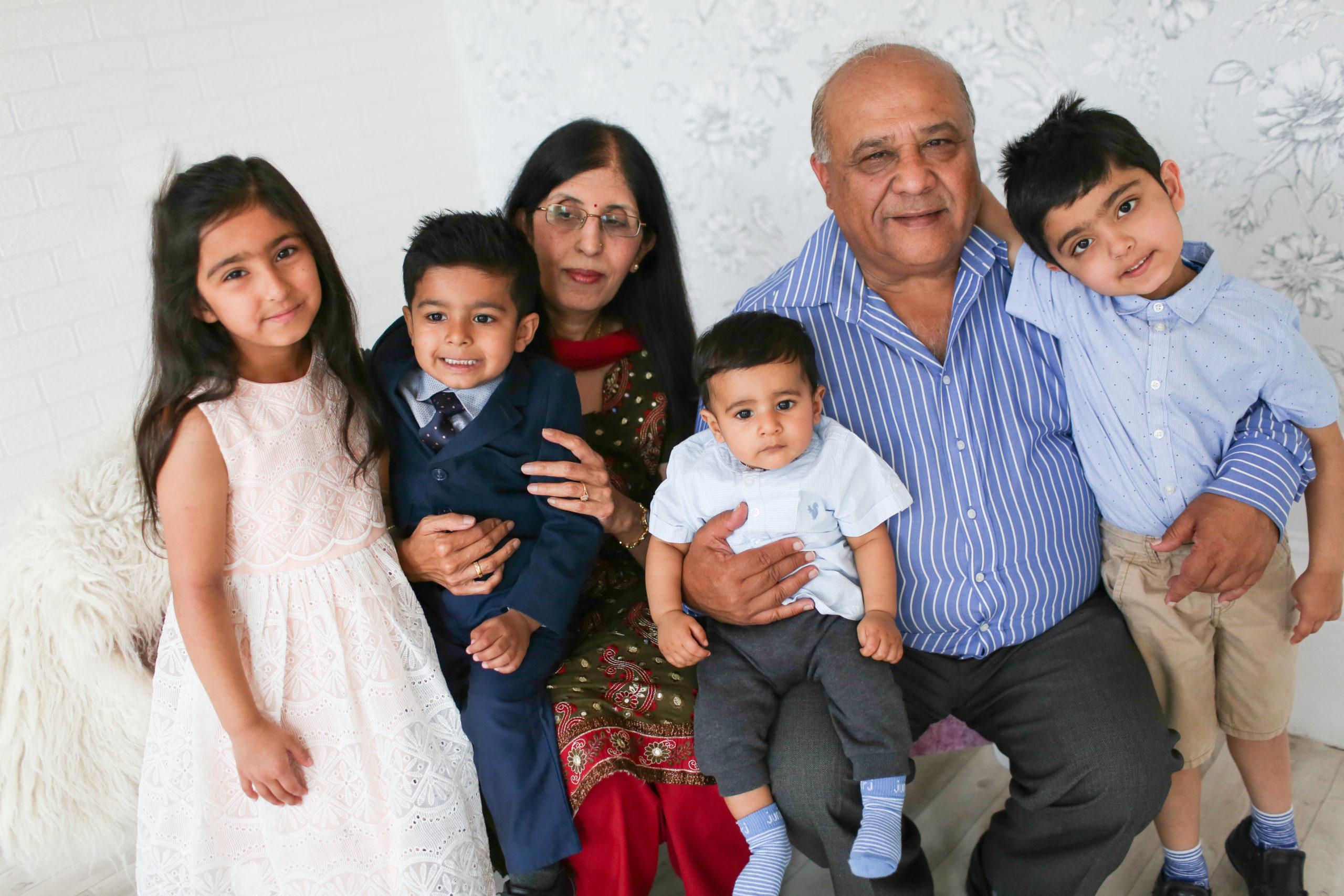 family portrait grandparent portrait